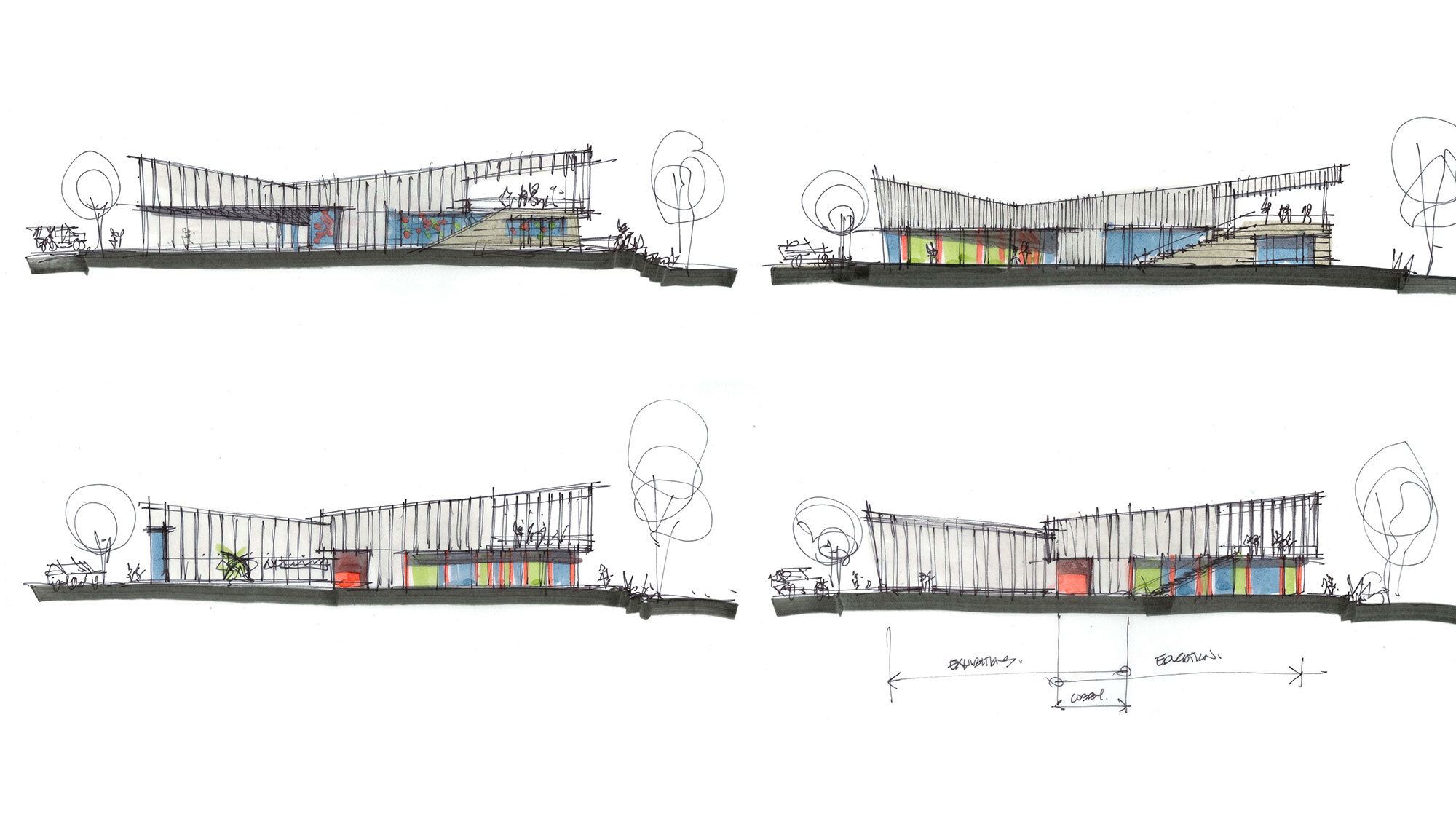 CCY Architects The Art Base color sketches