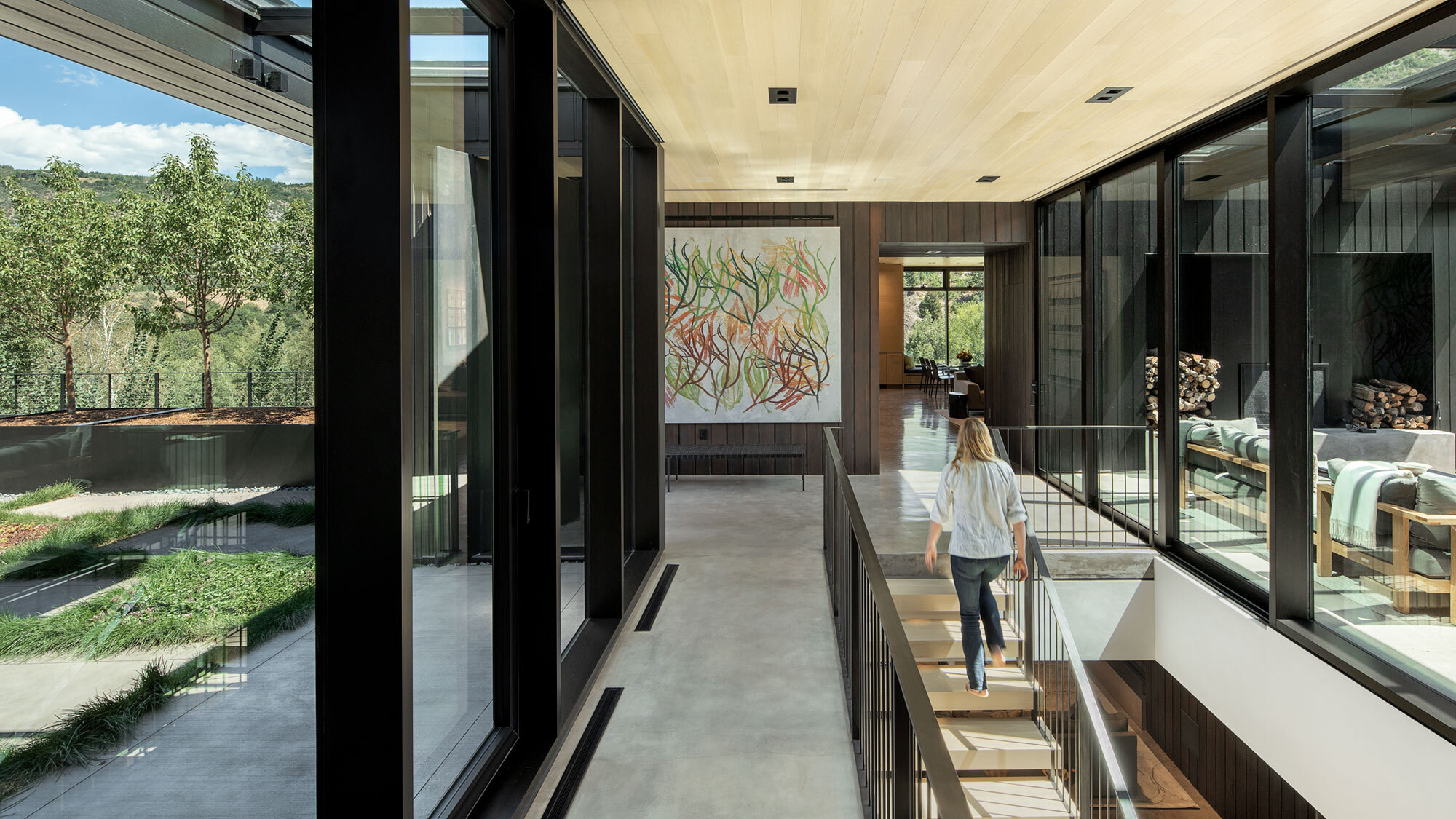 CCY Architects Meadow House entry hall Bittermann