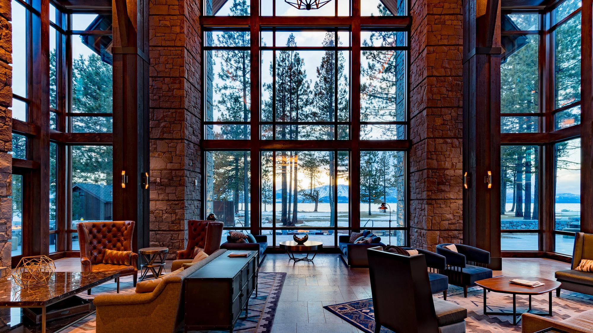 Edgewood Lodge Great Room Dusk