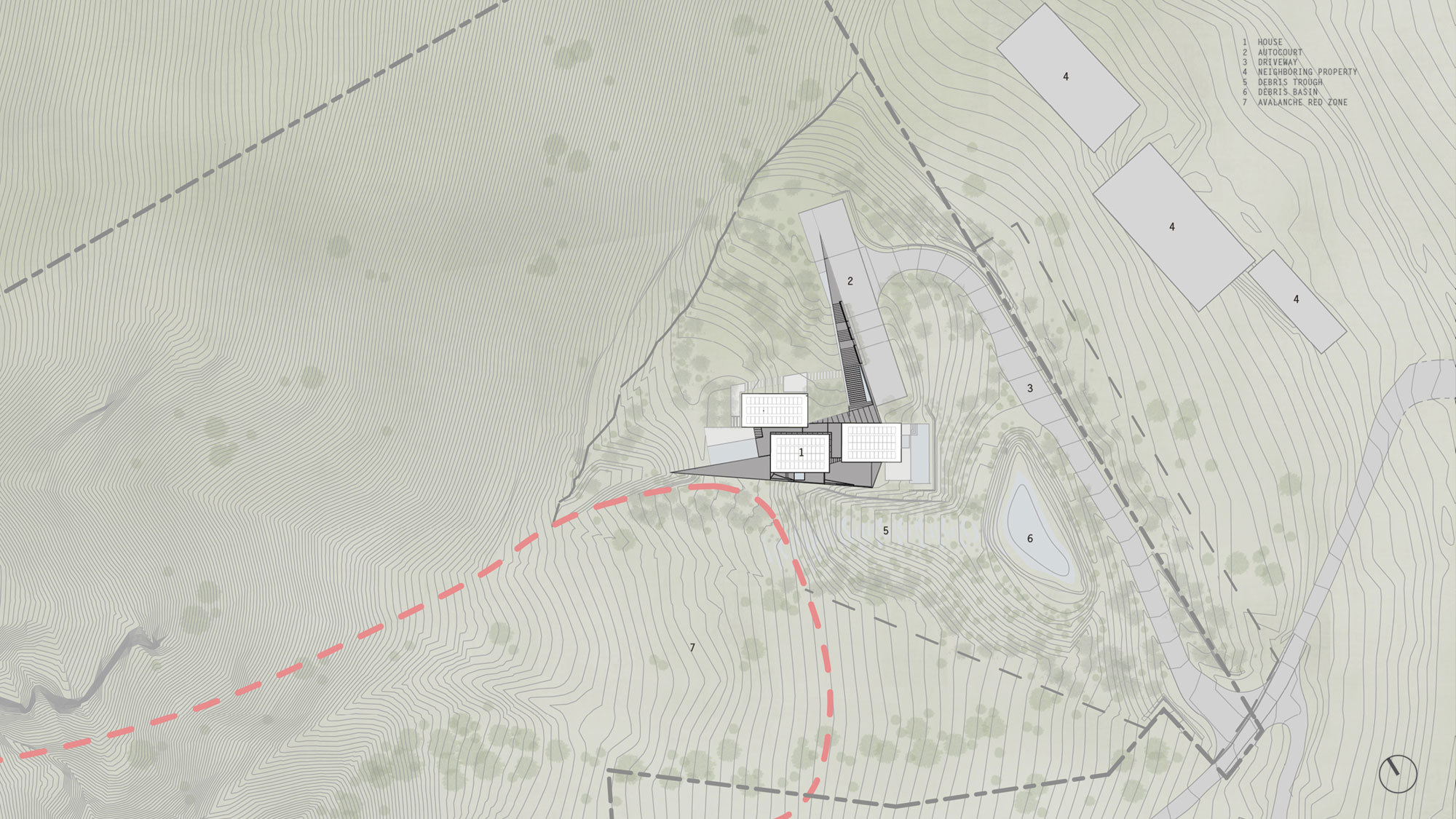 Wall House Site Plan